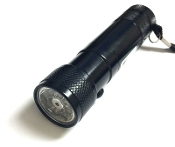 8 LED Flashlight with Laser Pointer