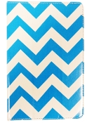 "10"" Universal Smart Cover Tablet Case White/ Cyan Chevron"