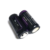 18350 Battery (2 PACK Flat Top): 800mAh 3.7V