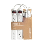 Two Pack- 6 Outlet Surge Protectors