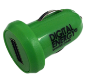 USB Car Charger (Green)